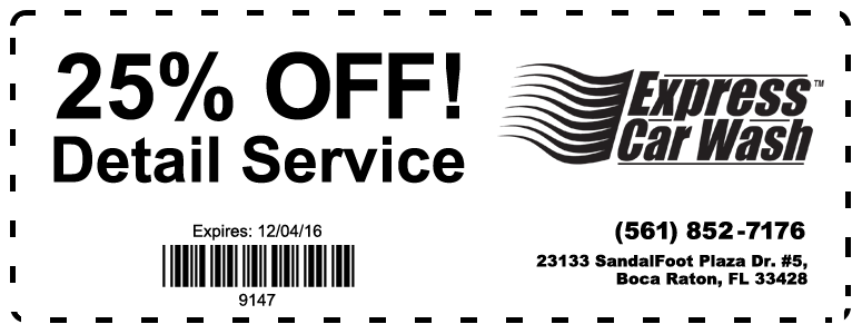 25% Off Detail Special